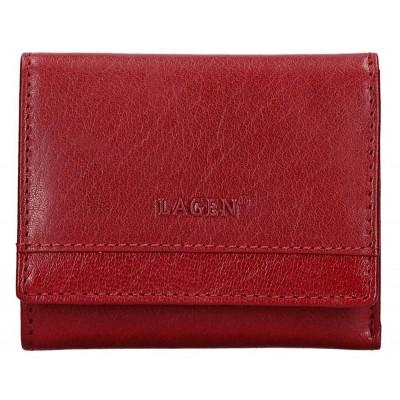 Dámská kožená peněženka LAGEN 160231 červená