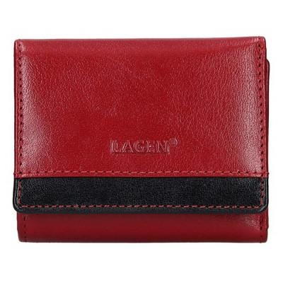 Dámská kožená peněženka LAGEN 160231 červeno/černá