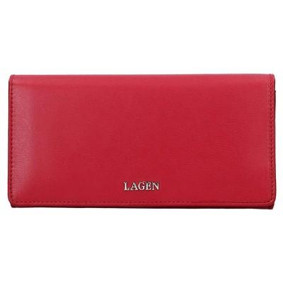 Dámska kožená peňaženka LAGEN 50310 červená