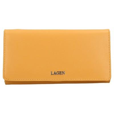 Dámska kožená peňaženka LAGEN 50310 zlatá