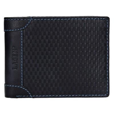 Pánska kožená peňaženka LAGEN 5434 modrá