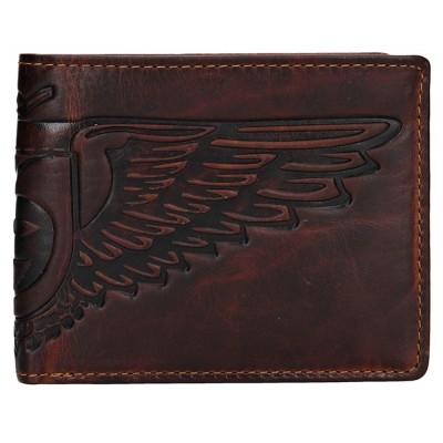 Pánska kožená peňaženka LAGEN 6537 hnedá