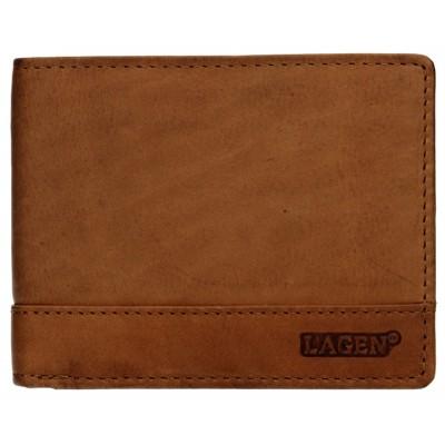 Pánska kožená peňaženka LAGEN 1998 svetlo hnedá