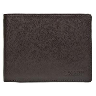 Pánská kožená peněženka LAGEN C22 hnědá