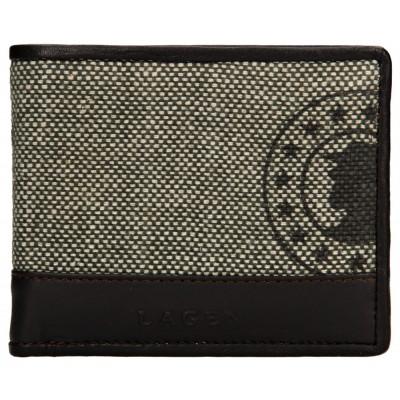 Pánská kožená peněženka LAGEN 50448 hnědo/zelená
