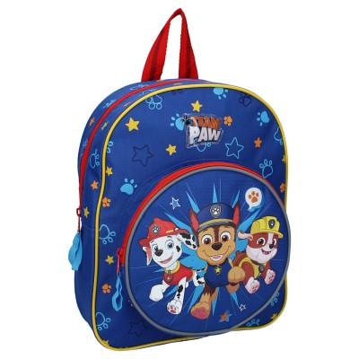 Detský batoh s guľatou prednou kapsou Tlapková patrola -...
